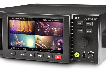 AJA Ki Pro® Ultra Plus 4K Multi-Channel HD Recorder 4K/UltraHD/2K/HD Recorder and Player